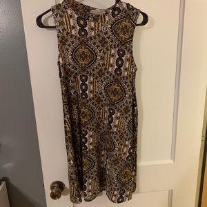 Pink Rose Patterned Dress Size Small